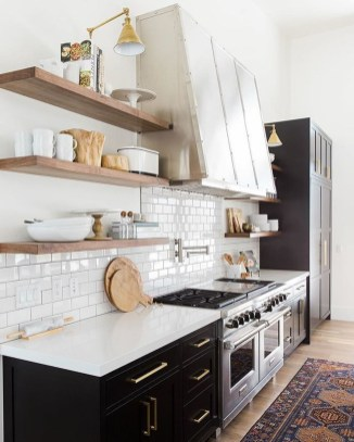 Best Monochrome Kitchen Theme Ideas For Decoration27