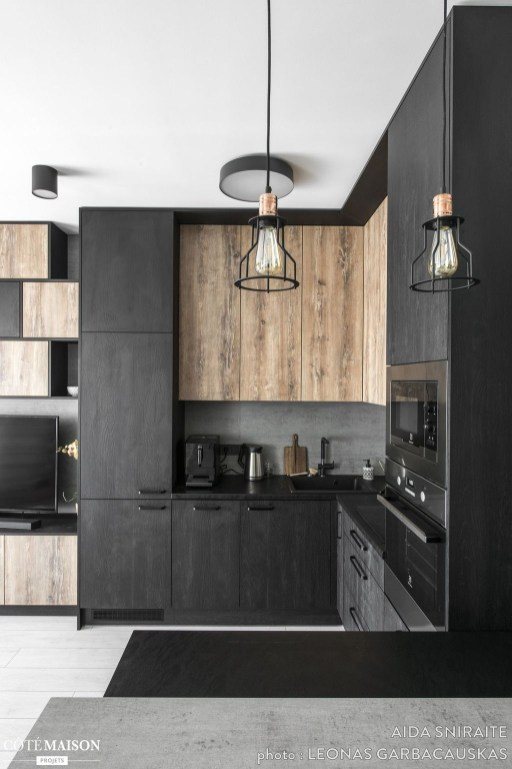 Best Monochrome Kitchen Theme Ideas For Decoration48