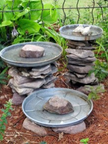 Bird Bath Design Ideas For Your Backyard Inspiration37