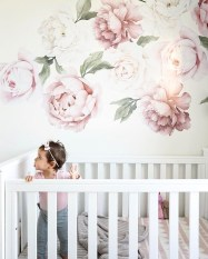 Fabulous Rose Wall Painting Design Ideas For You To Try In Home14