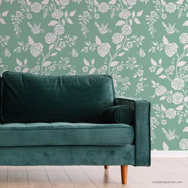 Fabulous Rose Wall Painting Design Ideas For You To Try In Home18
