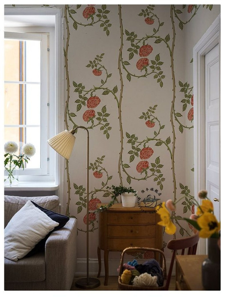 Fabulous Rose Wall Painting Design Ideas For You To Try In Home28