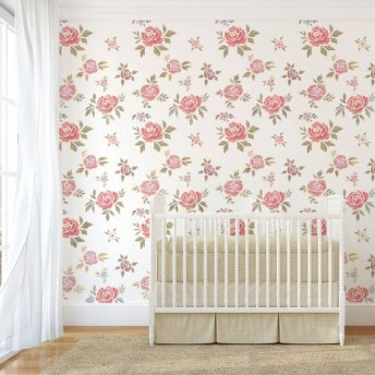 Fabulous Rose Wall Painting Design Ideas For You To Try In Home31