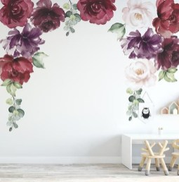 Fabulous Rose Wall Painting Design Ideas For You To Try In Home35