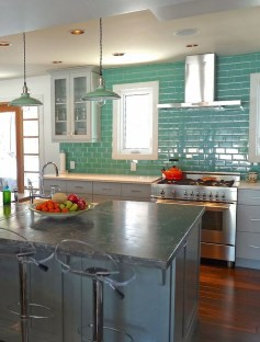 Impressive Gray And Turquoise Color Scheme Ideas For Your Kitchen13