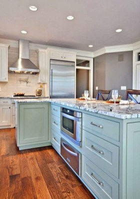 Impressive Gray And Turquoise Color Scheme Ideas For Your Kitchen17
