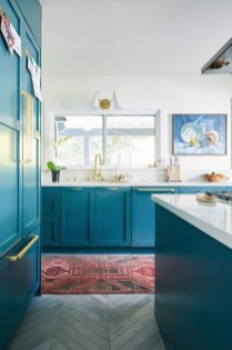 Impressive Gray And Turquoise Color Scheme Ideas For Your Kitchen19