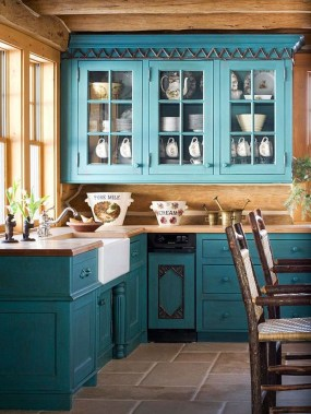 Impressive Gray And Turquoise Color Scheme Ideas For Your Kitchen25