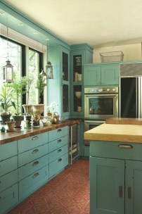 Impressive Gray And Turquoise Color Scheme Ideas For Your Kitchen32