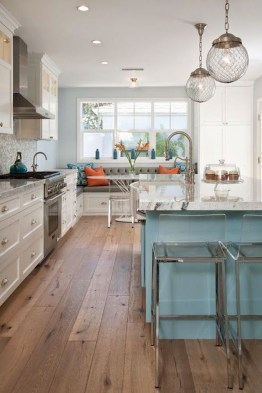 Impressive Gray And Turquoise Color Scheme Ideas For Your Kitchen34
