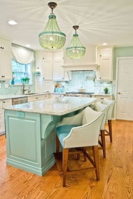 Impressive Gray And Turquoise Color Scheme Ideas For Your Kitchen36