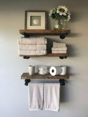 Interesting Floating Wall Shelves For Your Bathroom Style Ideas06