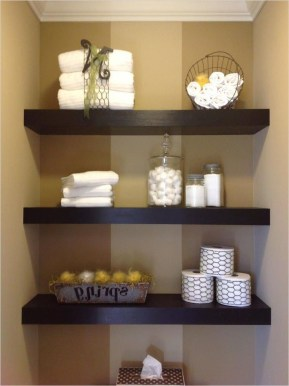 Interesting Floating Wall Shelves For Your Bathroom Style Ideas07