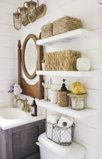 Interesting Floating Wall Shelves For Your Bathroom Style Ideas19