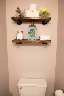 Interesting Floating Wall Shelves For Your Bathroom Style Ideas21