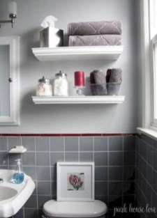 Interesting Floating Wall Shelves For Your Bathroom Style Ideas22
