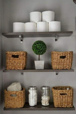 Interesting Floating Wall Shelves For Your Bathroom Style Ideas24