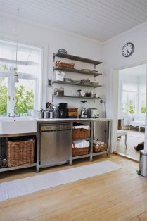 Wonderful Industrial Kitchen Shelf Design Ideas To Organize Your Kitchen03