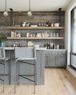 Wonderful Industrial Kitchen Shelf Design Ideas To Organize Your Kitchen04