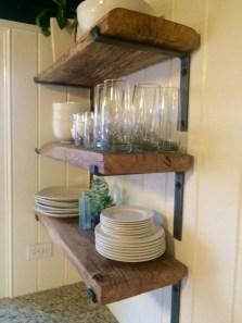 Wonderful Industrial Kitchen Shelf Design Ideas To Organize Your Kitchen10