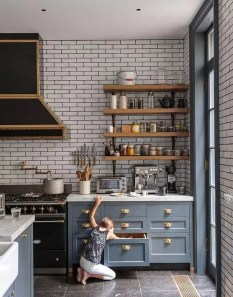 Wonderful Industrial Kitchen Shelf Design Ideas To Organize Your Kitchen12