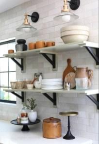 Wonderful Industrial Kitchen Shelf Design Ideas To Organize Your Kitchen14