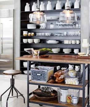 Wonderful Industrial Kitchen Shelf Design Ideas To Organize Your Kitchen15