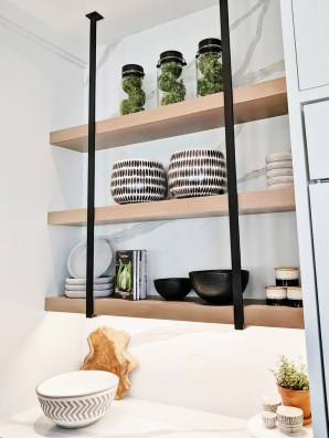 Wonderful Industrial Kitchen Shelf Design Ideas To Organize Your Kitchen25