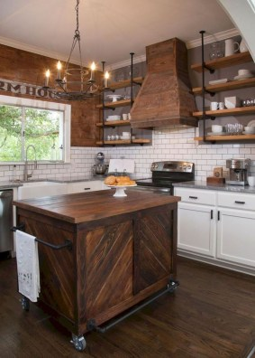Wonderful Industrial Kitchen Shelf Design Ideas To Organize Your Kitchen27