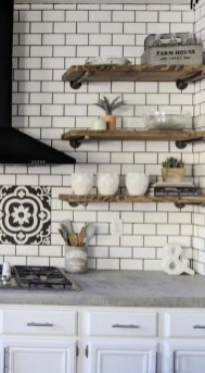 Wonderful Industrial Kitchen Shelf Design Ideas To Organize Your Kitchen32