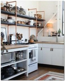Wonderful Industrial Kitchen Shelf Design Ideas To Organize Your Kitchen40