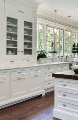 Adorable White Kitchen Design Ideas35