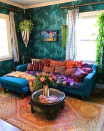 Charming Boho Living Room Decorating Ideas With Gypsy Style27