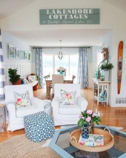Elegant Coastal Themed Living Room Decorating Ideas10