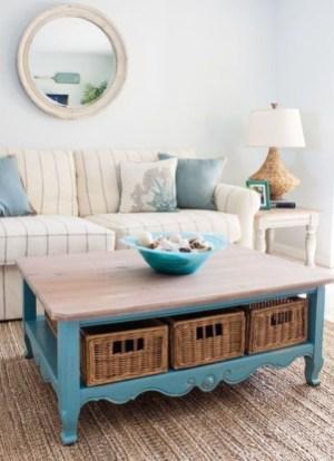 Elegant Coastal Themed Living Room Decorating Ideas15