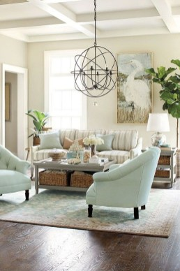 Elegant Coastal Themed Living Room Decorating Ideas27
