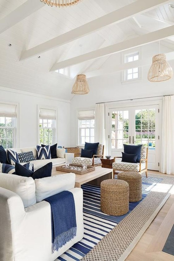 Elegant Coastal Themed Living Room Decorating Ideas36