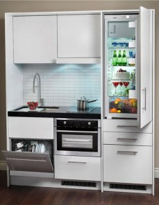 Enchanting Kitchen Design Ideas For Small Spaces38