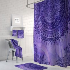 Fabulous Bathroom Design Ideas With Boho Curtains09