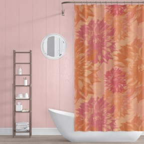 Fabulous Bathroom Design Ideas With Boho Curtains26
