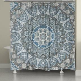 Fabulous Bathroom Design Ideas With Boho Curtains27