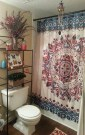 Fabulous Bathroom Design Ideas With Boho Curtains36