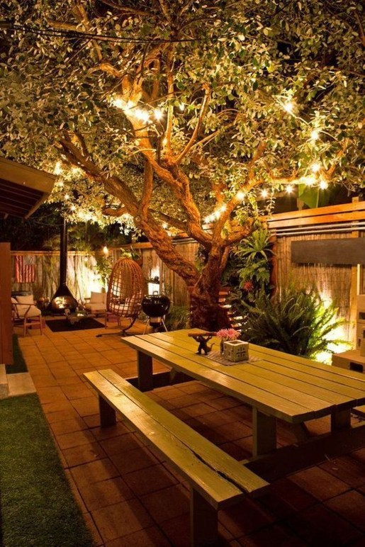 Impressive Backyard Lighting Ideas For Home46