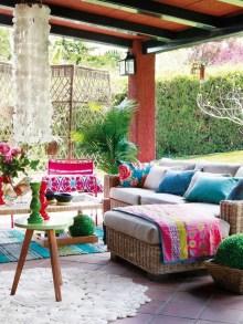 Inspiring Boho Outdoor Decorating Ideas For Backyard50