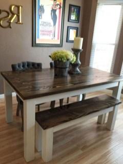 Pretty Farmhouse Table Design Ideas For Kitchen02