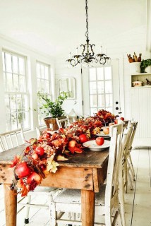 Pretty Farmhouse Table Design Ideas For Kitchen05