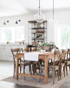 Pretty Farmhouse Table Design Ideas For Kitchen28