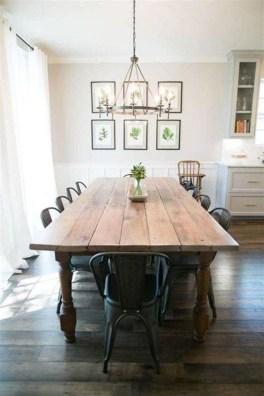 Pretty Farmhouse Table Design Ideas For Kitchen33