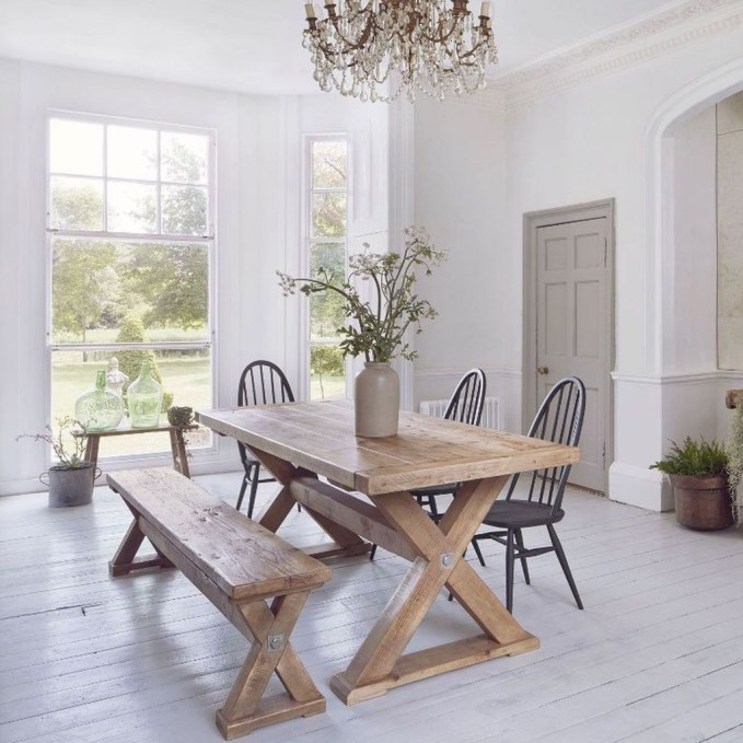 Pretty Farmhouse Table Design Ideas For Kitchen36