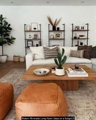 Modern Minimalist Living Room Ideas On A Budget13
